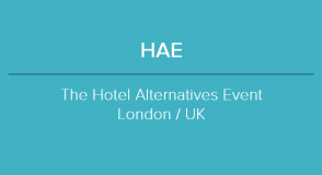 2019 HAE - THE HOTEL ALTERNATIVES EVENT <br />&nbsp;
