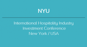 2019 NYU - INTERNATIONAL HOSPITALITY INDUSTRY INVESTMENT CONFERENCE