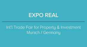 2019 EXPO REAL - INT'L TRADE FAIR FOR PROPERTY & INVESTMENT